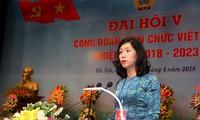 Ngày làm việc đầu tiên, Đại hội Công đoàn Viên chức Việt Nam lần thứ V nhiệm kỳ 2018 - 2023