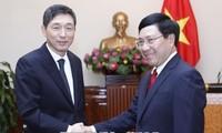 Phó Thủ tướng, Bộ trưởng Ngoại giao Phạm Bình Minh tiếp Đại sứ Hàn Quốc