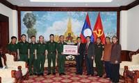 Bộ Quốc phòng hỗ trợ Chính phủ và nhân dân Lào khắc phục hậu quả vỡ đập thủy điện Sepien Senamnoi