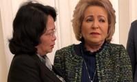 Phó Chủ tịch nước Đặng Thị Ngọc Thịnh gặp Chủ tịch Hội đồng Liên bang Quốc hội Liên bang Nga V. Matvienko