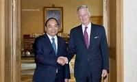 Thủ tướng Nguyễn Xuân Phúc hội kiến Nhà vua Bỉ
