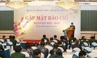 Quân ủy Trung ương, Bộ Quốc phòng gặp mặt báo chí
