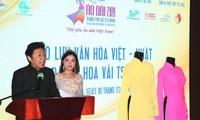 """Giao lưu văn hóa Việt Nam - Nhật Bản qua chương trình """"Áo dài và Hoa vải truyền thống Nhật Bản Tsumami"""""""
