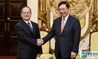 Phó Thủ tướng Chính phủ, Bộ trưởng Bộ Ngoại giao Phạm Bình Minh tiếp Bí thư Đảng ủy Khu tự trị dân tộc Choang Quảng Tây, Trung Quốc Lộc Tâm Xã