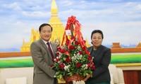 Đại sứ quán Việt Nam tại Lào chúc mừng 64 năm Ngày thành lập Đảng Nhân dân Cách mạng Lào