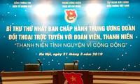 Bí thư Đoàn TNCS Hồ Chí Minh đối thoại trực tuyến với chủ đề Thanh niên tình nguyện vì cộng đồng