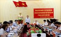 Chủ tịch Ủy ban Trung ương Mặt trận Tổ quốc Việt Nam làm việc tại Bình Thuận