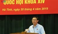 Phó Thủ tướng Vương Đình Huệ tiếp xúc cử tri tại Hà Tĩnh