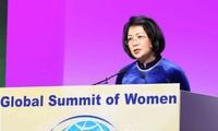Hội nghị Thượng đỉnh Phụ nữ Toàn cầu đề cao vai trò của phụ nữ trong kỷ nguyên số và Cách mạng 4.0