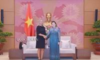 Chủ tịch Quốc hội Nguyễn Thị Kim Ngân tiếp Phó Chủ tịch Ủy ban châu Âu Federica Mogherini