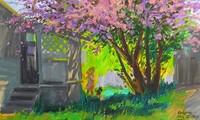 Mùa xuân trong tranh của họa sĩ Nguyễn Đức Hòa
