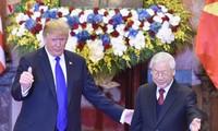 Nguyên thủ Việt Nam tiếp đón Tổng thống Hoa Kỳ Donald Trump