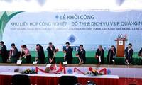 Primer ministro de Singapur asiste a ceremonia para comenzar el proyecto VSIP Quang Ngai