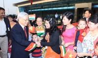 Actividades de líder partidista de Vietnam en India