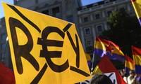 Protesta en Madrid contra monarquía española