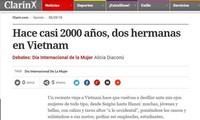 Prensa argentina honra a la mujer vietnamita