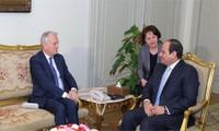 Egipto y Francia conversan sobre soluciones para crisis en Medio Oriente y África del Norte