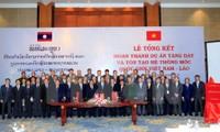 Revisan proyecto de reforzamiento de hitos fronterizos Vietnam- Laos