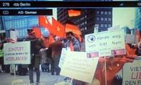 Medios de comunicación alemanes publican manifestación vietnamita en Berlín contra China