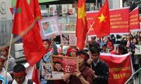 Vietnamitas en Japón protestan contra acciones ilegales de China en Mar Oriental