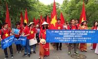 Protestan vietnamitas en Japón contra violaciones chinas en Mar del Este
