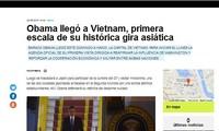 Medios de Argentina e Italia publican informaciones sobre la visita de Obama a Vietnam