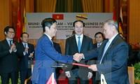 Vietnam y Brunei abogan por impulsar cooperación empresarial
