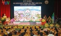 Presidente vietnamita en celebración de los 185 años de la provincia de Lang Son