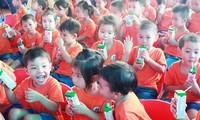 """Programa """"Leche escolar"""" ayuda a elevar estatura media de niños en Bac Ninh"""