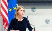 Estados Unidos implementará completamente el acuerdo nuclear de Irán, según Mogherini