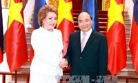 Primer ministro vietnamita recibe a la titular del Senado ruso