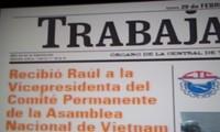 Destacan prensa cubana, repercusión de visita  de dirigente parlamentaria vietnamita a la isla