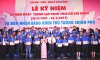 Actos conmemorativos por aniversario de Unión de Jóvenes Comunistas Ho Chi Minh
