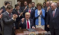 Donald Trump satisfecho con sus primeros 100 días en la Casa Blanca