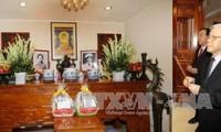 Máximo líder del Partido Comunista rinde tributo al general Nguyen Chi Thanh