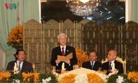 Líder político de Vietnam finaliza su visita oficial a Camboya