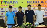 Futbolistas Sub 22 de Vietnam compiten con estrellas surcoreanas