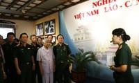 Inauguran la exposición sobre la amistad y la solidaridad combativa Vietnam-Laos-Camboya