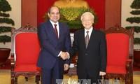Altos dirigentes de Vietnam y Egipto se reúnen en Hanói