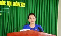 La presidenta del Parlamento vietnamita se reúne con los electores de Can Tho