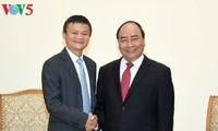 El primer ministro de Vietnam recibe al multimillonario chino Jack Ma