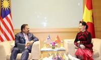 Líder parlamentaria vietnamita se reúne con los titulares legislativos de Malasia e Indonesia