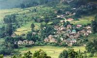 Las singulares casas de tierra del grupo étnico Ha Nhi Den en Lao Cai