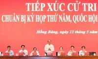 Primer ministro vietnamita se reúne con el electorado de Hai Phong