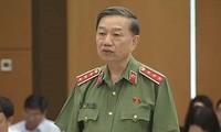 El ministro de Seguridad Pública de Vietnam rinde cuentas sobre el combate al crimen