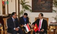 Presidente vietnamita se reúne con dirigentes egipcios