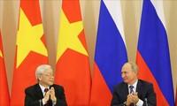 Se firman acuerdos de cooperación en la visita del líder partidista vietnamita a Rusia