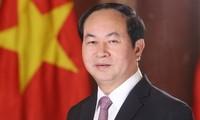 Continúan expresando pesar por el fallecimiento del presidente Tran Dai Quang