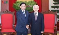 Líder partidista vietnamita se reúne con premier laosiano