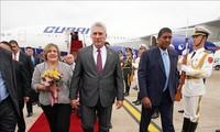 Presidente cubano visita China